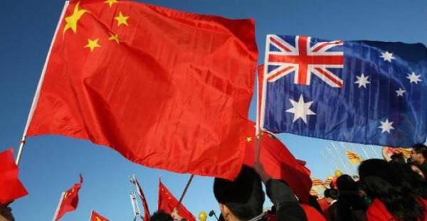 China & Australia Flags