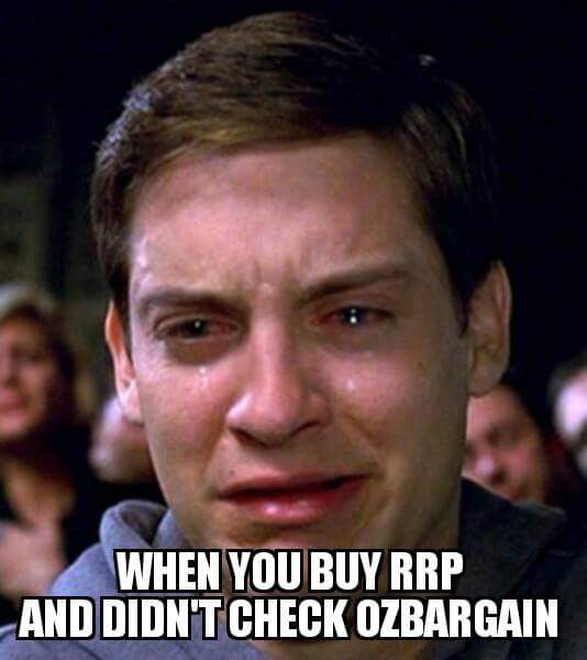 WHEN YOU BUY RRP AND DIDN'T CHECK OZBARGAIN