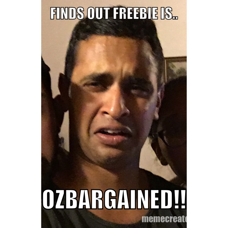FIND OUT FREEBIE IS.. OZBARGAINED!!