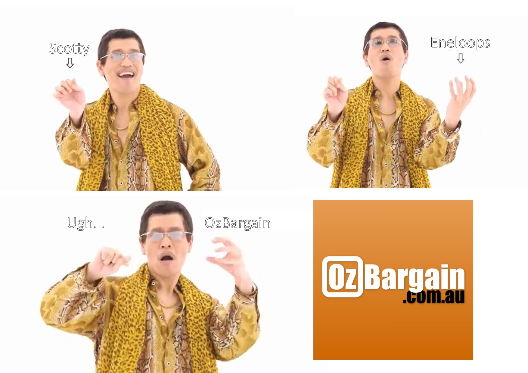 Scotty Eneloops Ugh.. OzBargain