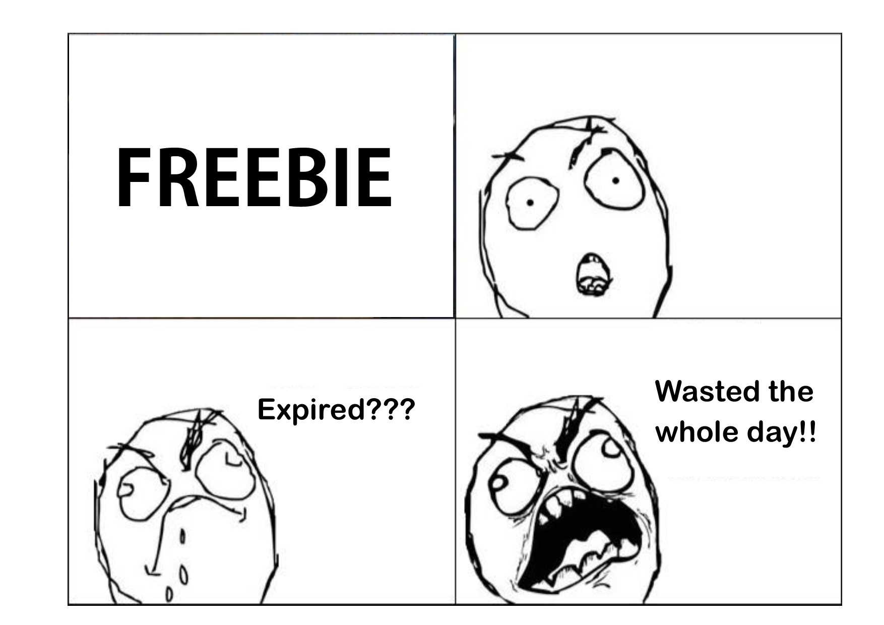 FREEBIE Expired??? Wasted the whole day!!