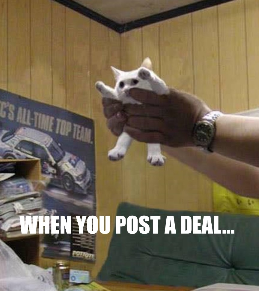 WHEN YOU POST A DEAL...
